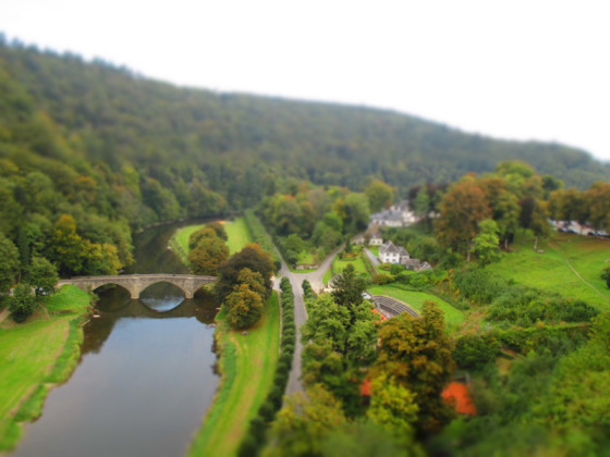 The view from the castle in Bouillon