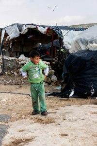 Kind van de Palestijnse man Nasser die Sarah ontmoette in het dorp Susya