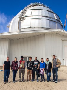 Our master students in front of the Gran Telescopio Canarias., one of the largest telescopes in the world (c) Georgios Keliris